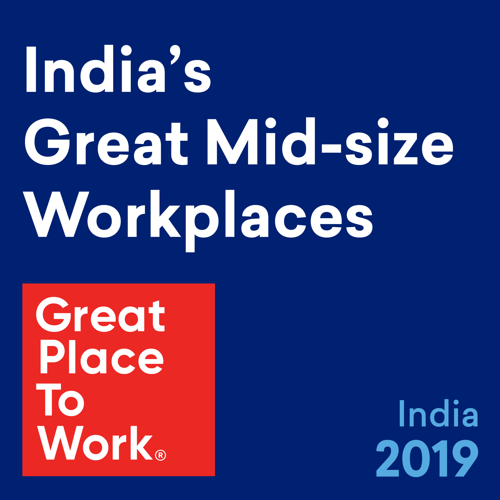 Ryan Named Again to India's Great Mid-Size Workplaces List by Great Place to Work