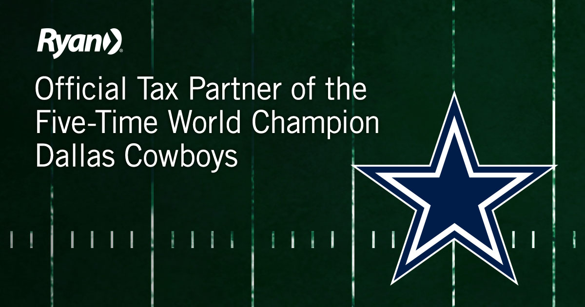 Ryan Becomes Official Tax Partner of the Dallas Cowboys