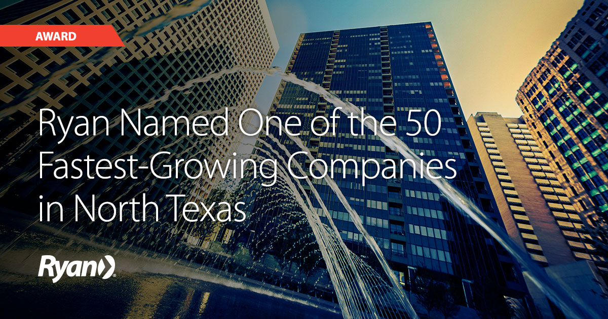 Ryan named to the Dallas Business Journal's Middle Market 50 listing